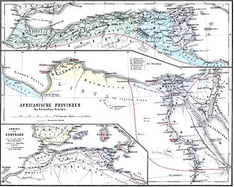 North Africa during Antiquity - Northern Africa in Antiquity (map related to the period under Roman rule)