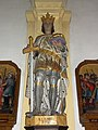 Romeries (Nord, Fr) église, statue St.Louis.jpg