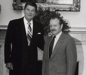 Ernest Preeg - 1981 (on right)