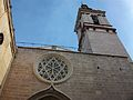 Rosassa i campanar, església de sant Nicolau de València.JPG