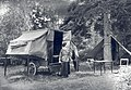 Roshanara in Front of Camp Trailer at Dorr Point - Aug 1922 (7d1c17917fec40dd84f7ca088424b77a).jpg