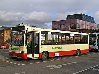 Marshall C37 - Rossendale Transport Marshall C37 bodied Dennis Dart at Bury Interchange in November 2008