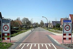 Rottum, Friesland - Rottum, east village entrance