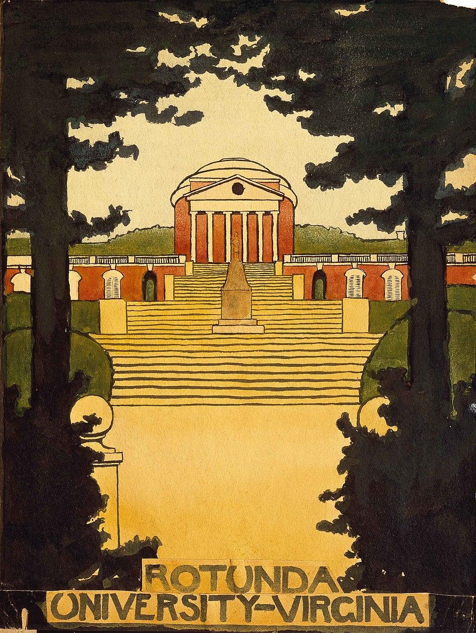 Rotunda at the University of Virginia 1914 by Georgia O'Keeffe