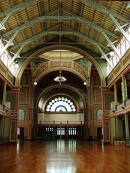 Interieur van het Royal Exhibition Building
