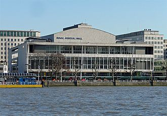 Royal Festival Hall - The Royal Festival Hall from the Victoria Embankment