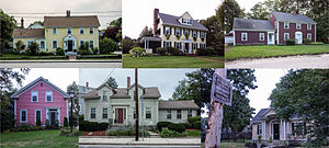 Rumford, Rhode Island - Image: Rumford National Register Historic District collage 2013