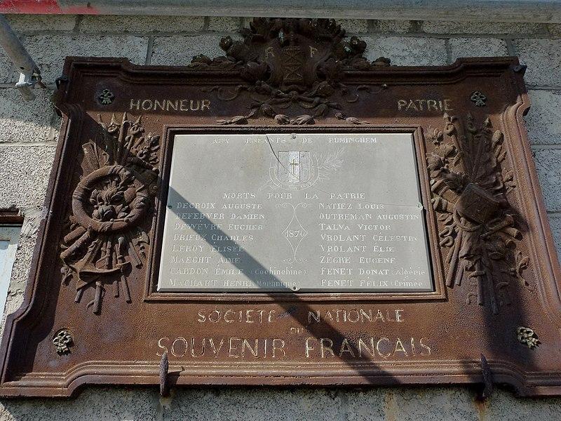 File:Ruminghem (Pas-de-Calais) plaque monument aux morts 1870.JPG