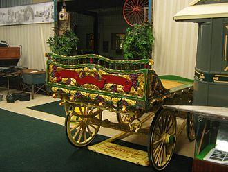 Vardo (Romani wagon) - Romanichal-style trotting cart