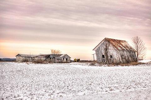 An Ohio farm in winter