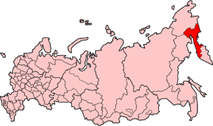 Koryak Okrug - Location of Koryak Okrug in Russia in 2007