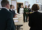 Russian Defence Minister General of the Army Sergei Shoigu attended the Knowledge Day ceremony in the Russian Defence Ministry's Boarding School for Girls 02.jpg