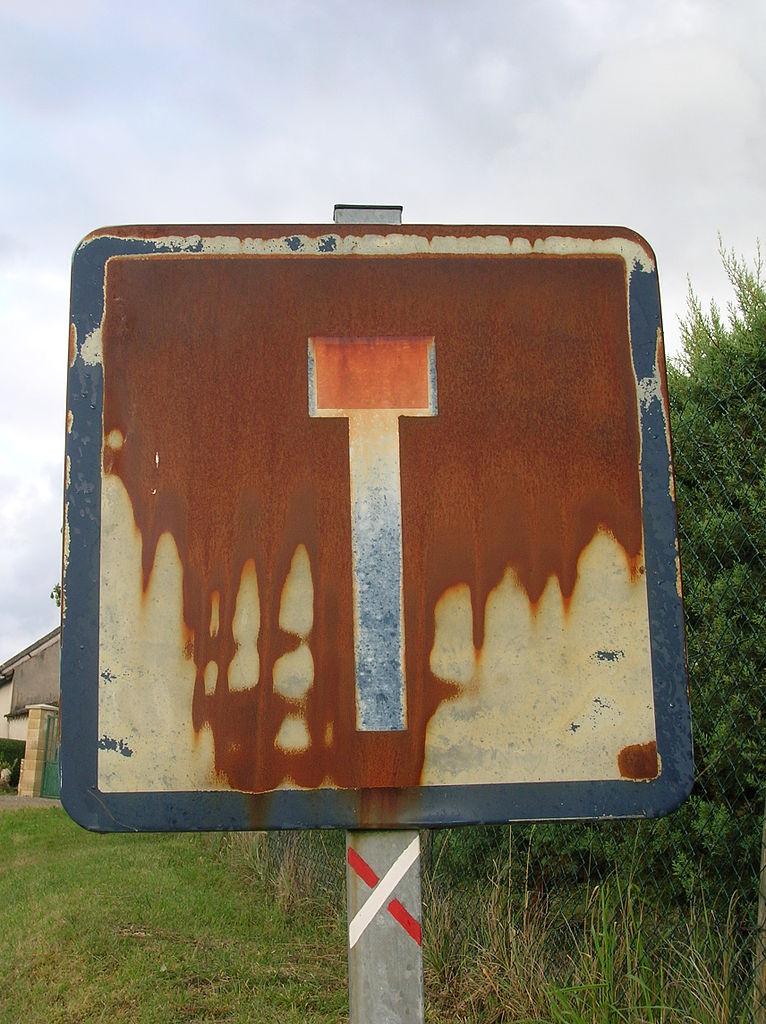 Filerusty Road Sign Dead Endjpg Wikimedia Commons