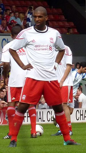Ryan Babel - Babel before Jamie Carragher's testimonial match in 2010