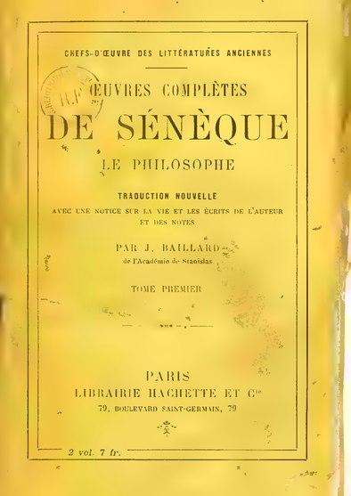 File:Sénèque - Œuvres complètes, trad. Baillard, tome I.djvu