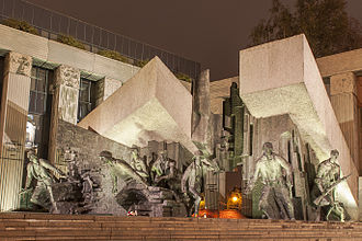 Warsaw Uprising Monument - Main section of the monument