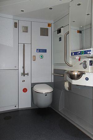 Stadler KISS - Image: SBB Regio Dosto Toilet 2