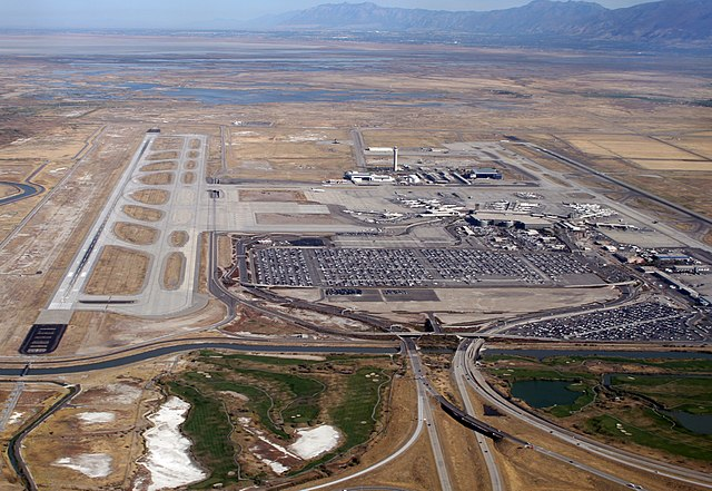 Salt Lake City Airport Aerial View