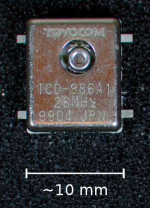 Voltage-controlled oscillator - A 26 MHz TCVCXO