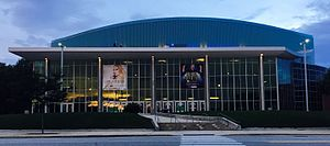 Die SNHU Arena in Manchester im August 2016