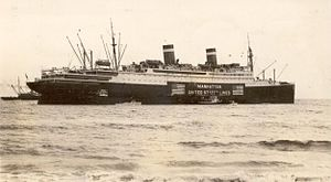 SS Manhattan (1931) - SS Manhattan beached at Palm Beach, Florida