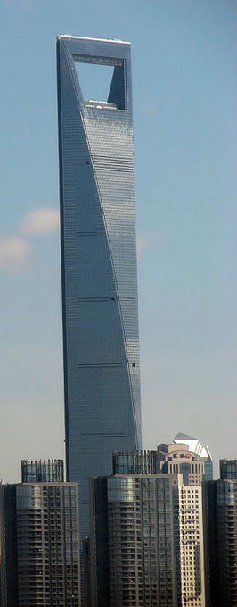 Shanghai World Financial Center in juli 2008