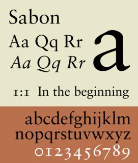 Sabon Serif typeface
