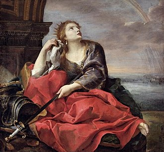 Dido, Queen of Carthage (opera) - The Death of Dido by Andrea Sacchi