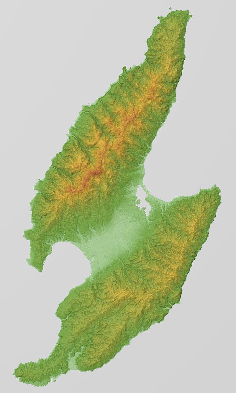 佐渡島 地形図 3Dジャンボ