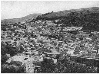 Safed - Muslim quarter of Safed circa 1908