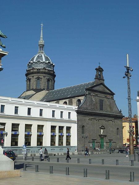 General view of the Church Saint-Peter, Clermont-Ferrand (place de Jaude). Historical monument.