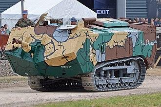 Saint-Chamond (tank) - Last Saint-Chamond surviving taking part in TankFest 2017 in Bovington Camp, Dorset, UK.