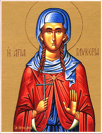 Saint Glyceria - Icon depicting St. Glyceria