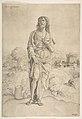 Saint John the Baptist standing in landscape, figures and buildings in the backgroud MET DP813983.jpg