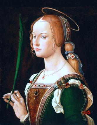 Justina of Padua - Saint Justina by Bartolomeo Montagna