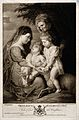 Saint Mary (the Blessed Virgin) with the Christ Child, Saint Wellcome V0033973.jpg