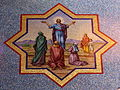 Saint Mary Magdalene Church (Columbus, Ohio) - mosaic, Melchizedek offers bread and wine.jpg