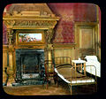 Saint Petersburg. Yelagin Palace interior of palace, cots next to a fireplace.jpg