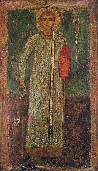 Saint Stephen - Byzantine icon, 11th century