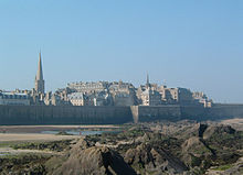 The walled city of Saint-Malo was a former stronghold of corsairs.