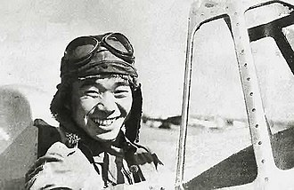Saburō Sakai - PO2/c Sakai in the cockpit of a Mitsubishi A5M Type 96 fighter (Hankow airfield, China in 1939)
