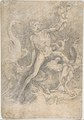 Samson Slaying the Philistine, after Michelangelo (recto); Figure of Fury, after Rosso Fiorentino (verso) MET DP810763.jpg