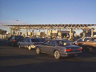 San Luis Port of Entry Border crossing between Mexico and the U.S.