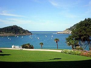 Miramar Palace - Palace gardens and view over La Concha Bay.