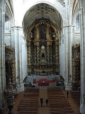 José Benito de Churriguera - Main altar in church of saint Stephen in Salamanca