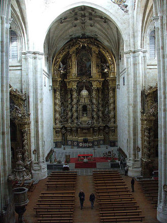 José Benito de Churriguera - Main altar in church of saint Stephen in Salamanca