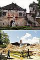 Santa Cruz Parish Church, Maribojoc, Bohol (Before and After 2013 Bohol Earthquake).jpg