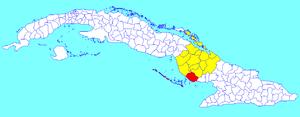 Santa Cruz del Sur - Image: Santa Cruz del Sur (Cuban municipal map)