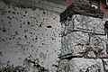 Sarajevo – Jewish cemetery, bullet holes.jpg