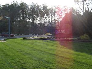 SAS Institute - Entrance to SAS Campus in Cary, NC.
